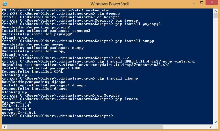 A Django - Postgres GIS server on Windows | burdGIS