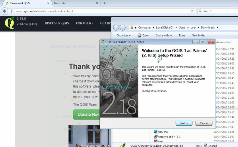 Installing QGIS