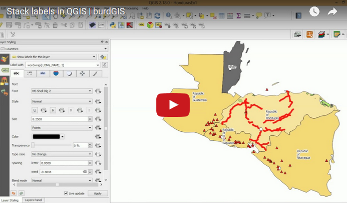 Stack labels in QGIS